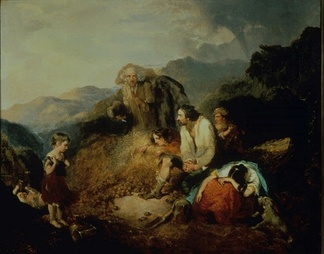 An Irish Peasant Family Discovering the Blight of their Store by Cork artist Daniel MacDonald, c. 1847. For economic reasons, the Irish peasantry had become dependent on potato crop.