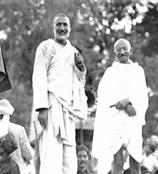 Peshawar and the surrounding areas were active in the Indian Independence movement. Pictured above, the Pashtun leader Abdul Ghaffar Khan and Mohandas Gandhi rally their supporters in the North West frontier to join the new secular state of India.