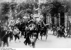 German Uhlans after the capture of Warsaw, August 1915