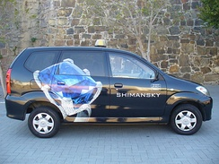 Cape Town Taxi Cab Advertising Shimansky