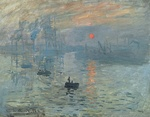 Claude Monet's Impression, Sunrise, 1872, gave the name to Impressionism