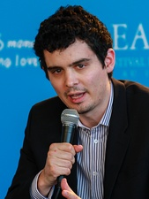 Damien Chazelle promoting Whiplash at the Deauville American Film Festival in France, September 2014