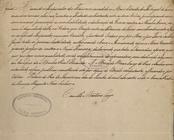 Declaration of war made by D. John to Napoleon Bonaparte and all his vassals, 1808. National Archives of Brazil.
