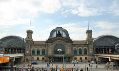 Dresden Central Station is the main inter-city transport hub