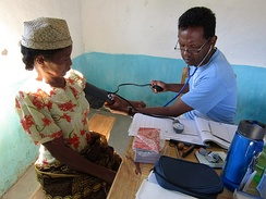 Consultation with a mobile health team doctor in Madagascar
