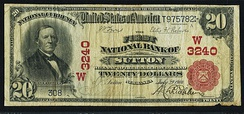 $20 banknote with portrait of Secretary of the Treasury Hugh McCulloch