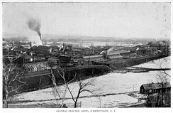 General Electric in Schenectady, NY, aerial view, 1896