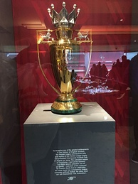 After completing the only unbeaten Premier League season, a unique gold trophy was commissioned to Arsenal
