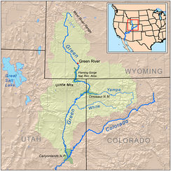 Map of the Green River watershed
