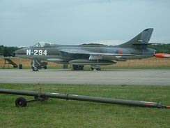 A Hunter F.6A of the Dutch Hawker Hunter Foundation painted to represent a Royal Netherlands Air Force aircraft, 2009