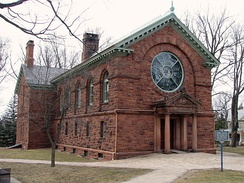Herring-Cole Hall, the university's earliest library