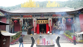 Huating Buddhist Temple in the Western Mountains (Xishan) of Kunming.