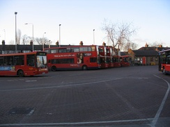 Ilford Hainault Street Bus Station, where nine different bus routes terminate.