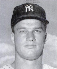 Bouton in 1963 with the Yankees.