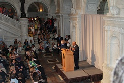 John Lewis addressing audience in the Great Hall of the Library of Congress on the 50th Anniversary of the March on Washington for Jobs and Freedom, August 28, 2013