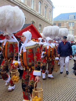 The Gilles of Binche at the inauguration of the Christmas market in 2013.