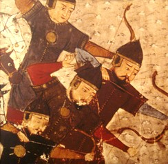 Mongol archers during the time of the Mongol conquests used a smaller bow suitable for horse archery.