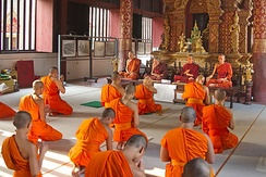 Buddhist monks in Chiang Mai Province, Thailand