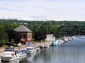Waterford Harbor at the Village of Waterford, on the Mohawk River