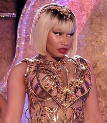 Minaj performing at the 2018 MTV Video Music Awards
