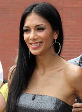 Scherzinger during her first day as a judge on the American version of The X Factor.