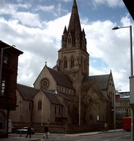 The Roman Catholic Cathedral of St. Barnabas from Derby Road