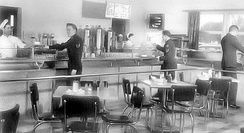 Snack Bar at the MATS Terminal, Orly Air Base, 1955