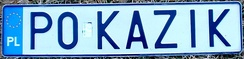 Custom Polish licence plate from the Greater Poland Voivodeship