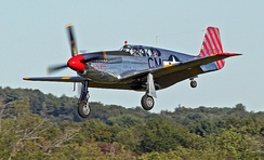 "TP-51C ""Betty Jane"" dual control Warbird of the Collings Foundation appears at airshows around the United States"