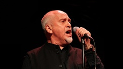 Peter Gabriel performing at the 2011 Skoll Awards.