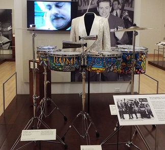 The timbales of Tito Puente on exhibit in the Musical Instruments Museum in Phoenix, AZ
