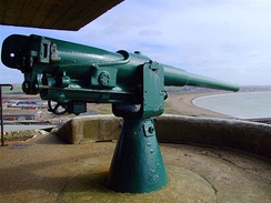 Typical coast defence mounting, at Newhaven Fort, UK