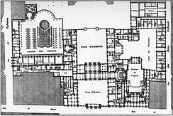 1780 plan of the Palais-Royal with Moreau's opera house (1770–1781)