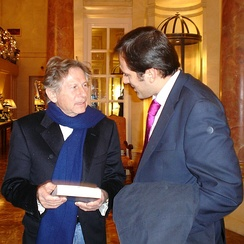 Polanski and Spanish writer Diego Moldes (es), Madrid 2005