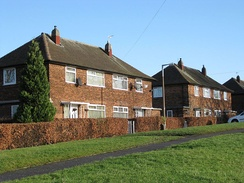 Semi-detached council house in Seacroft, Leeds, West Yorkshire