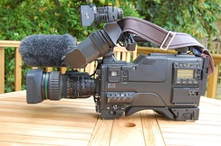 Sony Betacam SP BVW-D600P Camcorder with C6 Paglight and Rycote Softie (other side)