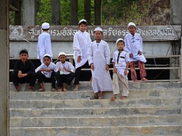 Muslim boys outside a newly built madrassah in Krabi Province, 2014