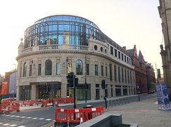 In 2020 Channel 4 opened a new national headquarters in the redeveloped Majestic Building on City Square, Leeds.