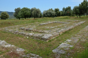 The ruins of the 4th century BC Temple of Hippolytus (son of Theseus) at Troezen, Argolid, Greece (14005631442).jpg