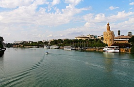 River Guadalquivir over the city of Seville