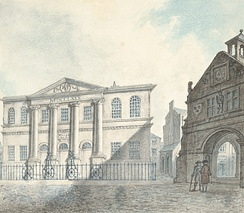 The town hall and old Market House, 1796
