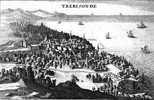 Trebizond with the Black Sea on the right