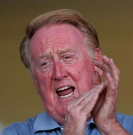 Hall of Fame Dodgers broadcaster Vin Scully