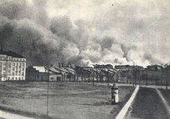 Warsaw Ghetto in flames