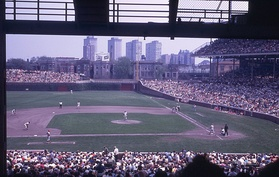 The Cubs play at Wrigley Field, May 1970