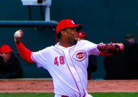Cordero pitching for the Reds in 2009