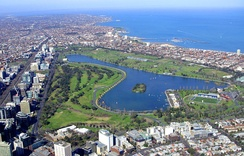 Aerial view of Albert Park