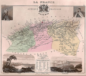 The three Algerian departments in 1848