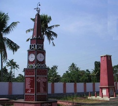 "A communist ""martyrs column"" in Alappuzha, Kerala, India"