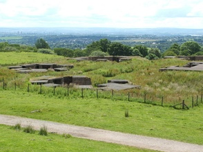 The remains of HAA gunsite N9 overlooking Clydebank.